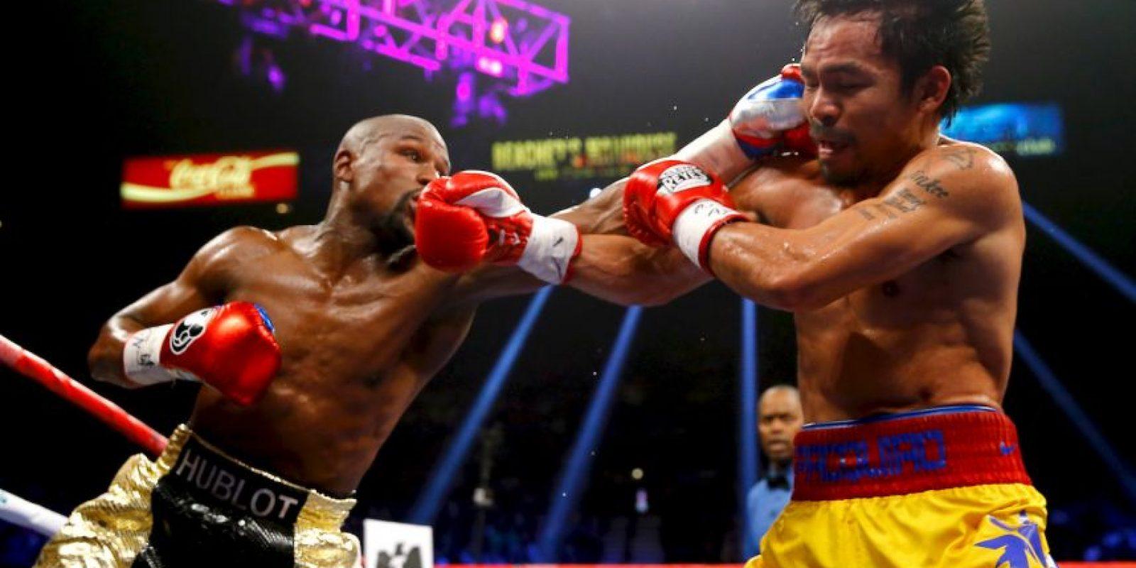 """Mayweather: """"Hicimos lo que teníamos que hacer para ganar esta noche"""". Foto:Getty Images"""