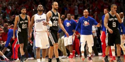 Chris Paul marcó la canasta que eliminó a los Spurs Foto: Getty Images