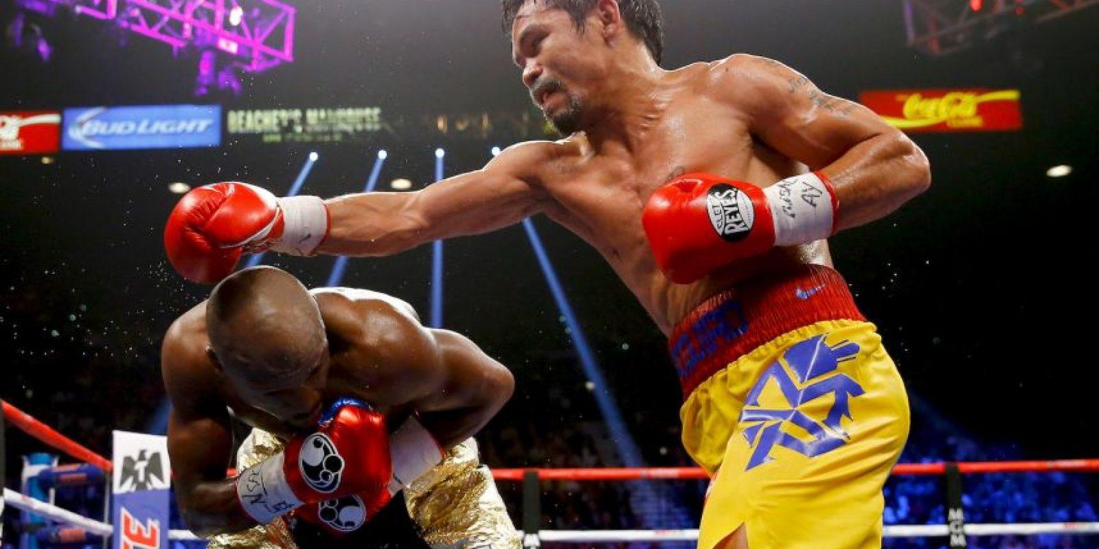 """Pacquiao: """"Sí sentí su poder, pero lo manejé bien, Cotto pega más fuerte"""". Foto:Getty Images"""