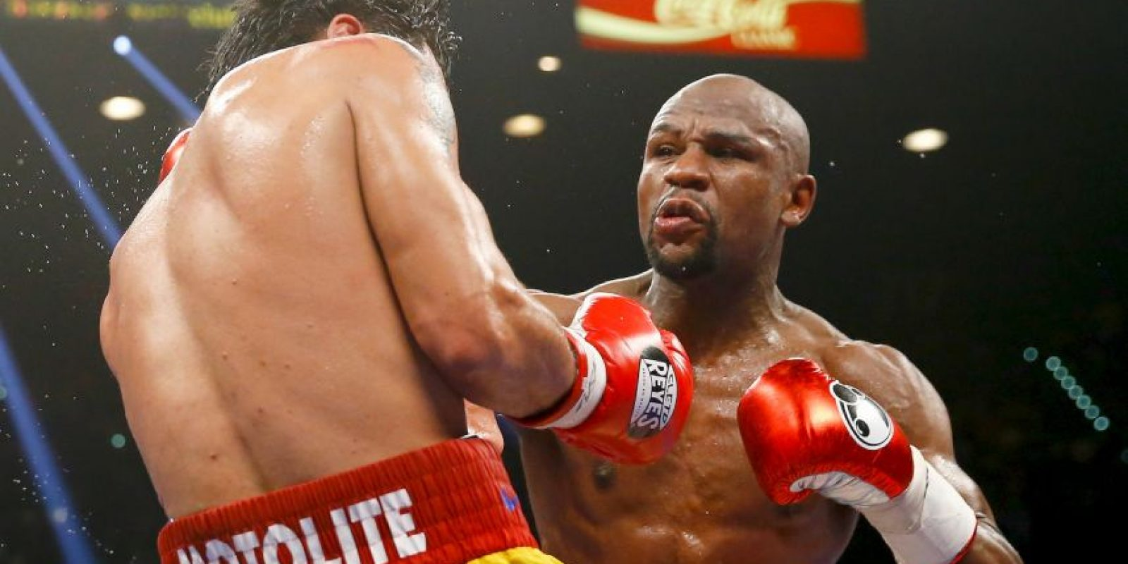 """""""Money"""" acertó casi el doble de golpes de """"Pacman"""" Foto:Getty Images"""