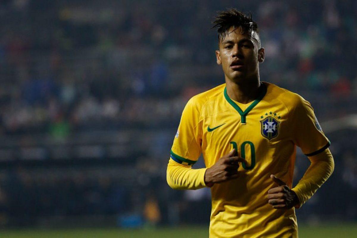 El brasileño repitió la acción de la Copa del Rey en la Copa América. Foto:Getty Images