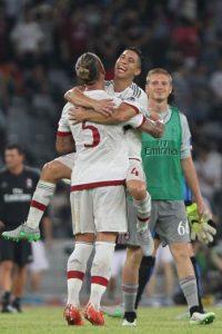 """Los """"rossoneros"""" se llevaron la victoria en el duelo amistoso gracias al gol de Mexes. Foto:Getty Images"""