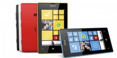Lumia 520. Desde 130 dólares. Pantalla de 4 pulgadas (10 centímetros) y cámara de 5MP Foto:Nokia