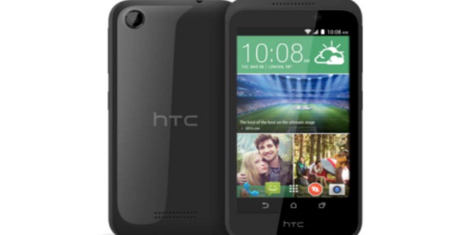 HTC Desire 320. Desde 109 dólares. Cuenta con pantalla de 4.5 pulgadas (11 centímetros) y cámara de 5 megapíxeles Foto:htc