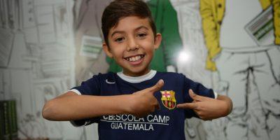 Gabriel el pequeño culé que ya entrenó en el Barça