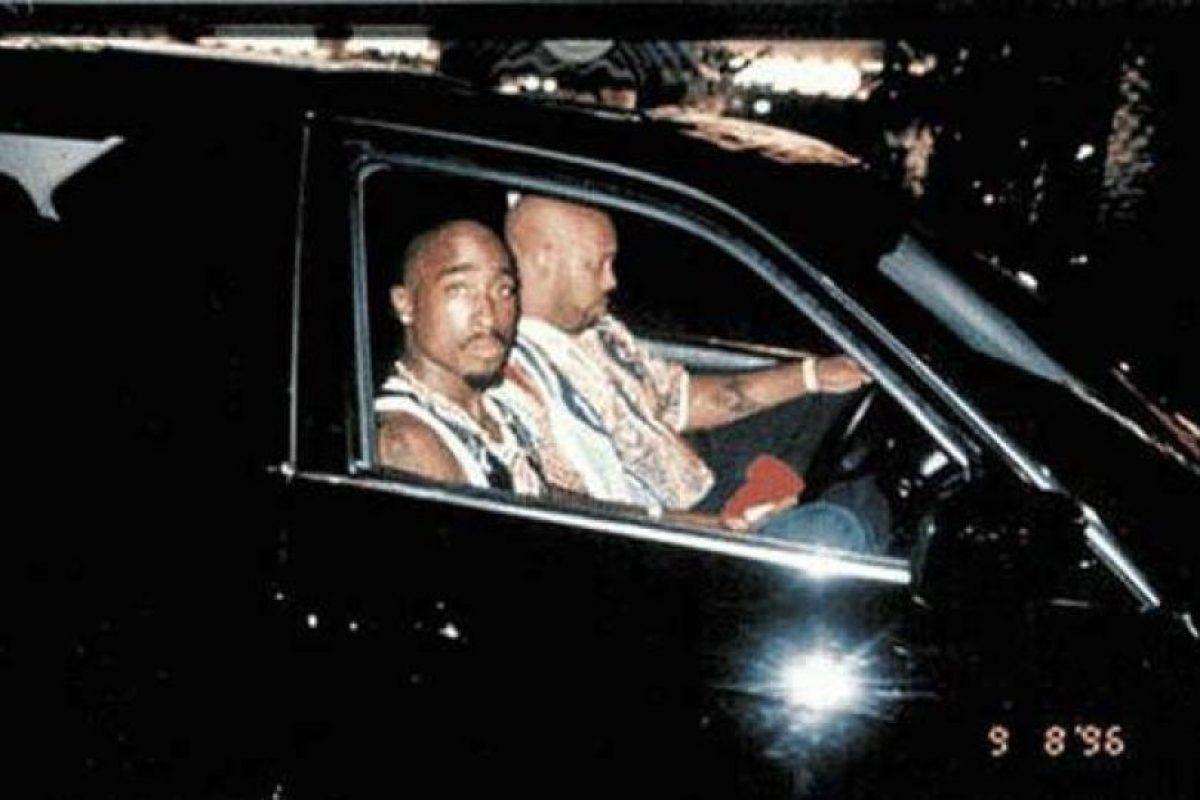 Tupac Shakur, antes de llegar al lugar donde lo abalearon. Foto:vía Getty Images