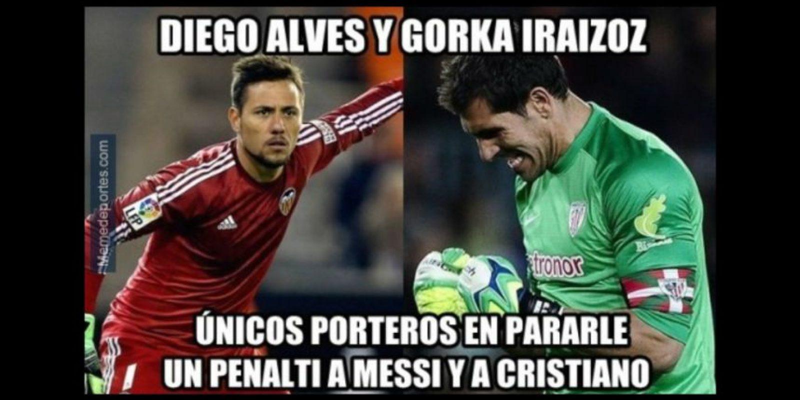 La nota del partido fue el penal que falló Leo Messi. Foto:memedeportes.com