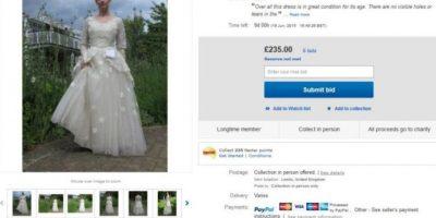 Como el vestido se vendió en eBay, la historia se hizo viral. Foto:vía eBay