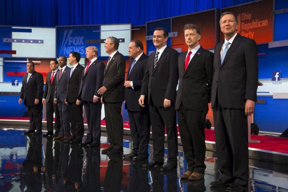 En este debate participaron: Donald Trump, Jeb Bush, Scott Walker, Mike Huckabee, Ben Carson, Ted Cruz, Marco Rubio, Rand Paul, Chris Christie y John Kasich. Foto:Getty Images