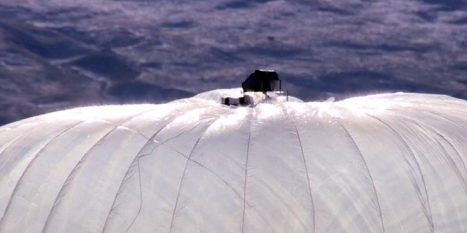 La parte superior del globo. Foto:Google
