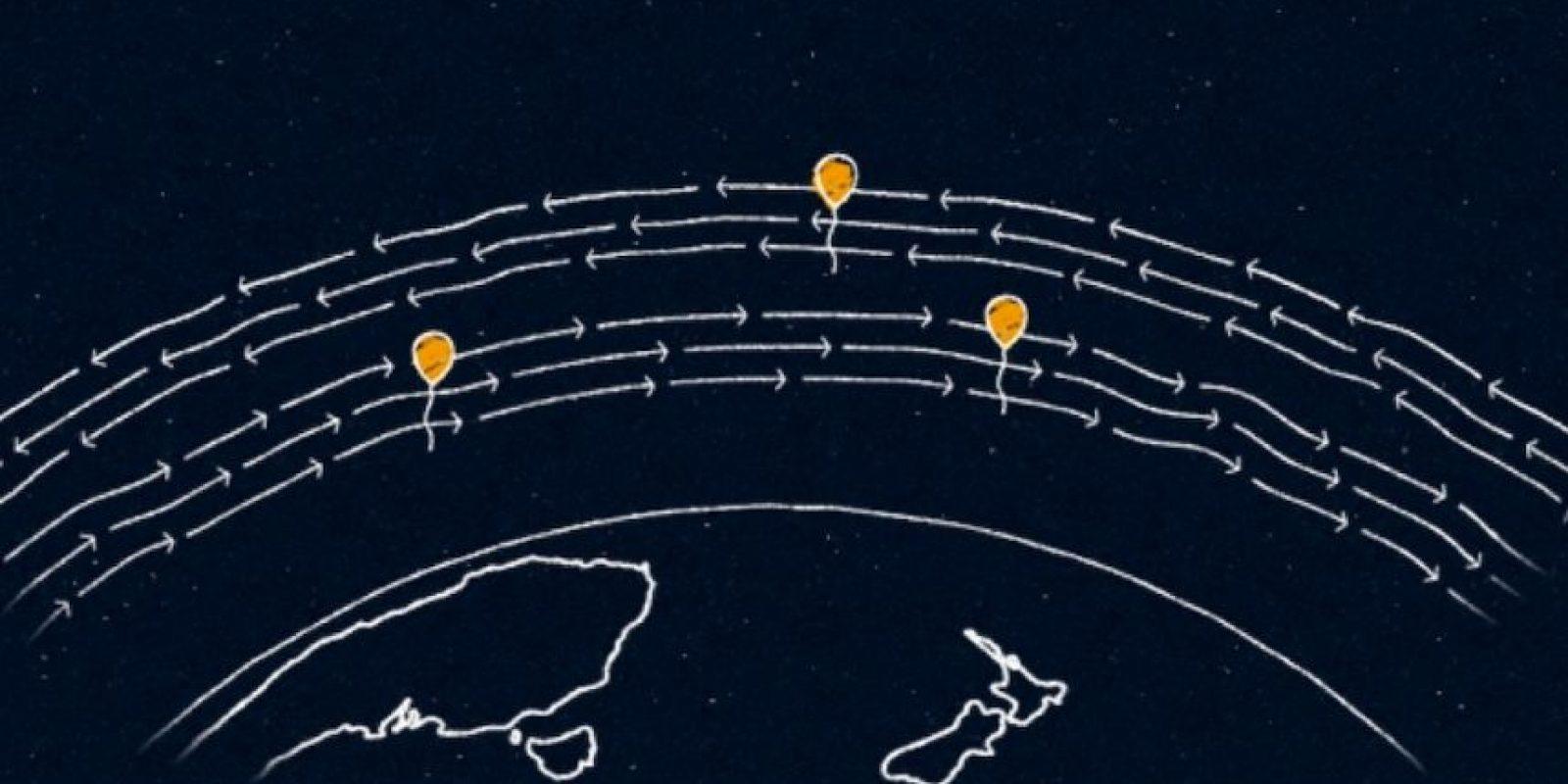 Los globos vuelan a 20 kilómetros de la superficie, en la estratósfera. Foto:Google