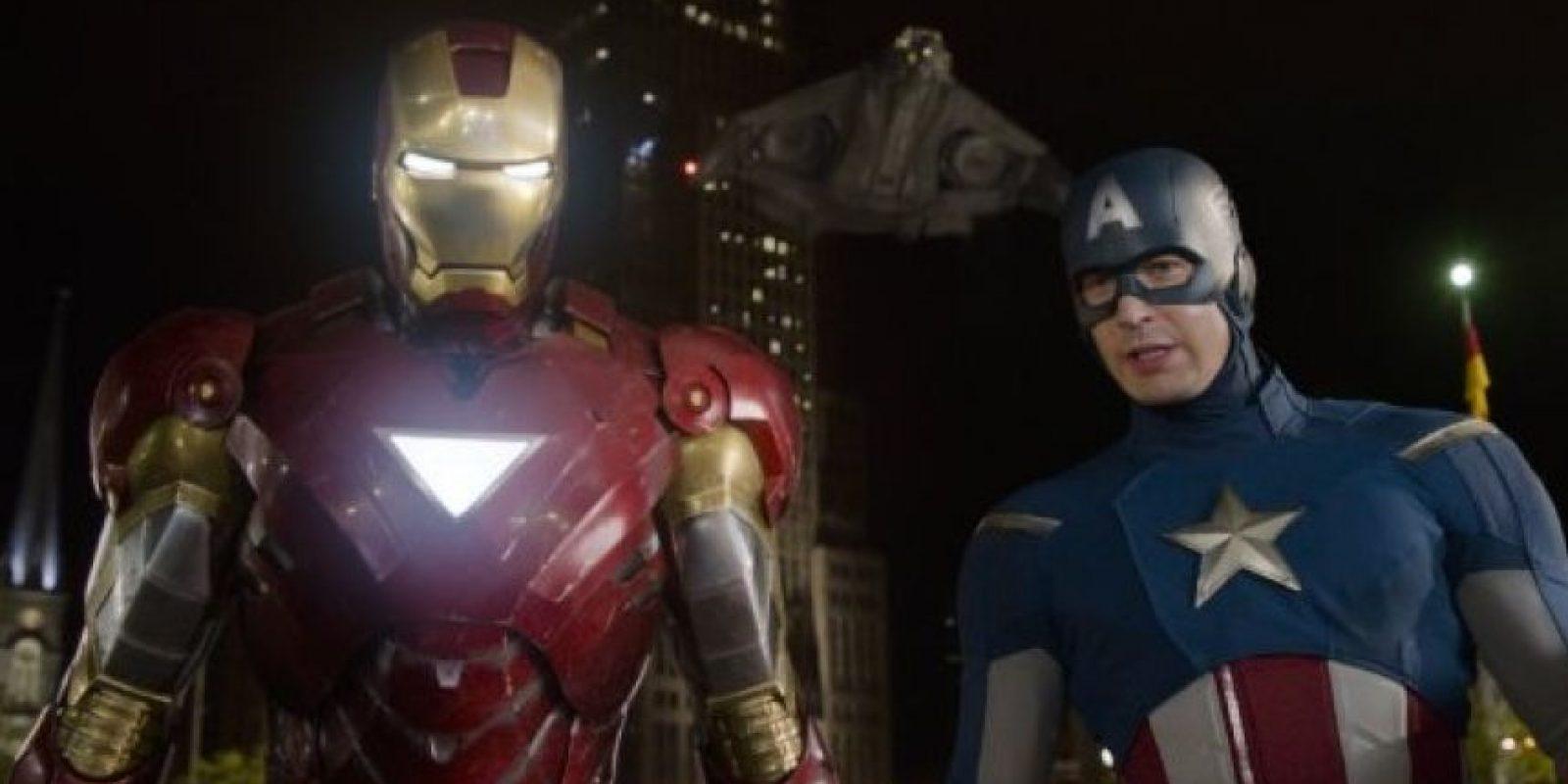 """Iron Man"" y ""Capitán América"" Foto:IMDb"