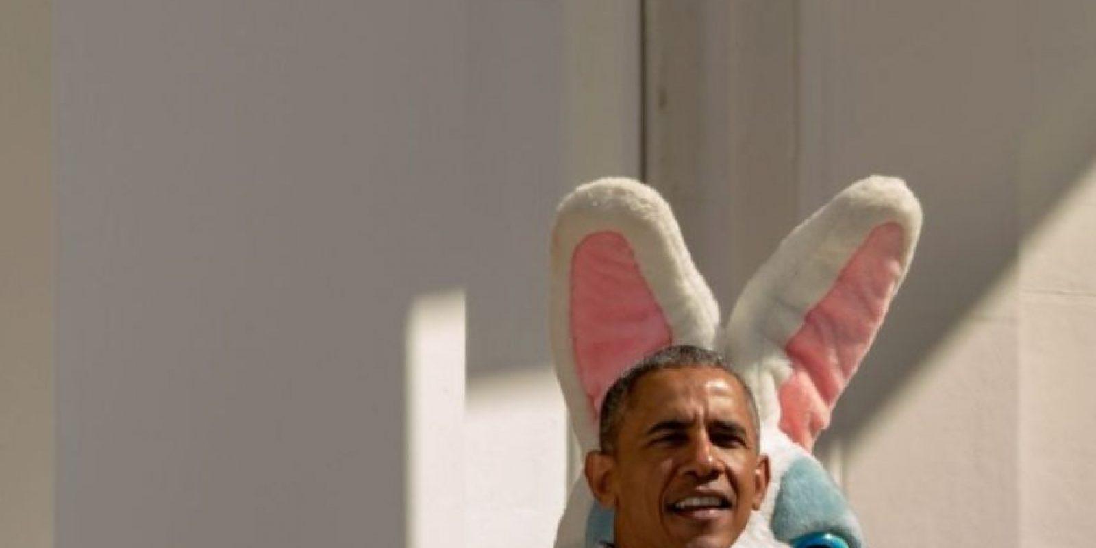 """El conejo de Pascua le jugó un momento """"bochornoso"""". Foto:Getty Images"""