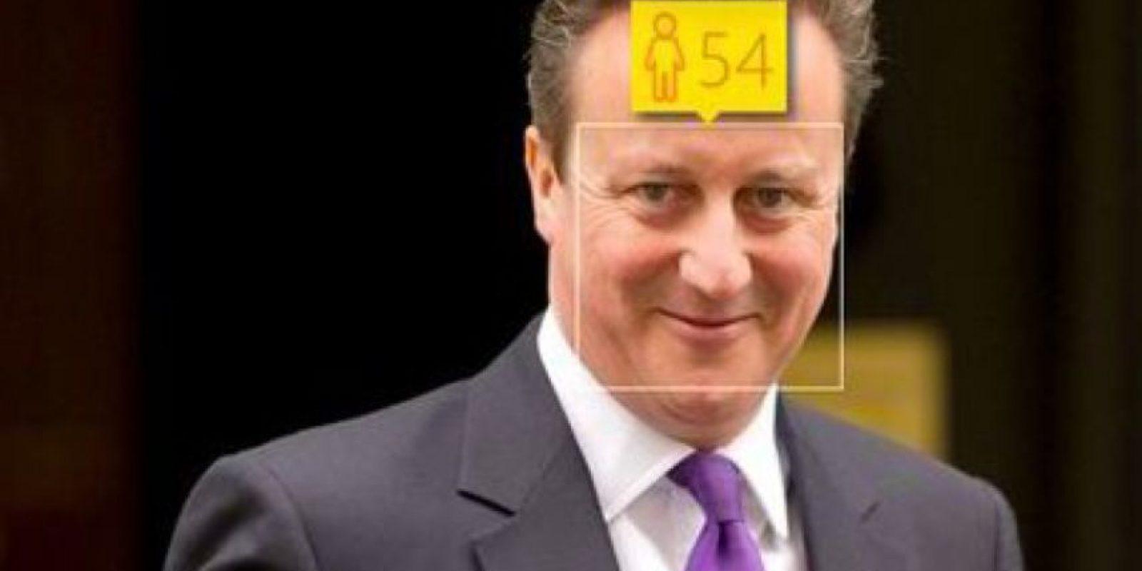 David Cameron, primer ministro del Reino Unido, tiene 48 años de edad. Foto:how-old.net