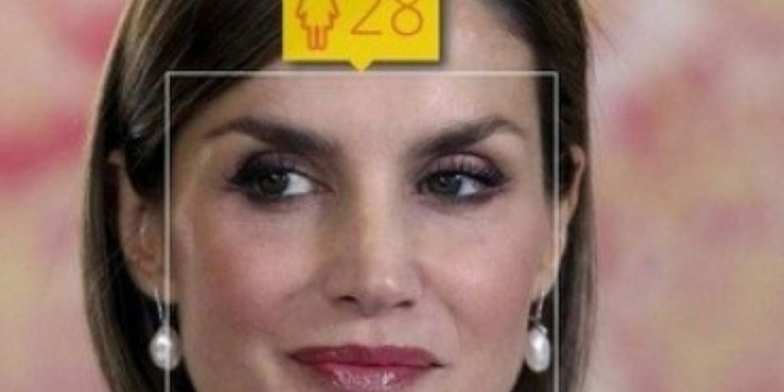 La princesa española Letizia Ortiz tiene 42 años de edad. Foto:how-old.net