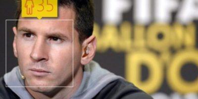 Lionel Messi, futbolista argentino del Barcelona, en realidad tiene 27 años de edad. Foto:how-old.net