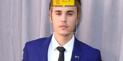 El cantante canadiense Justin Bieber en realidad tiene 21 años de edad. Foto:how-old.net