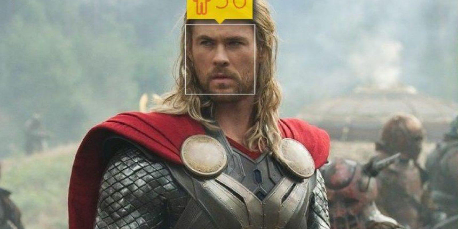"""Thor, uno de """"Los Vengadores"""". Foto:how-old.net"""