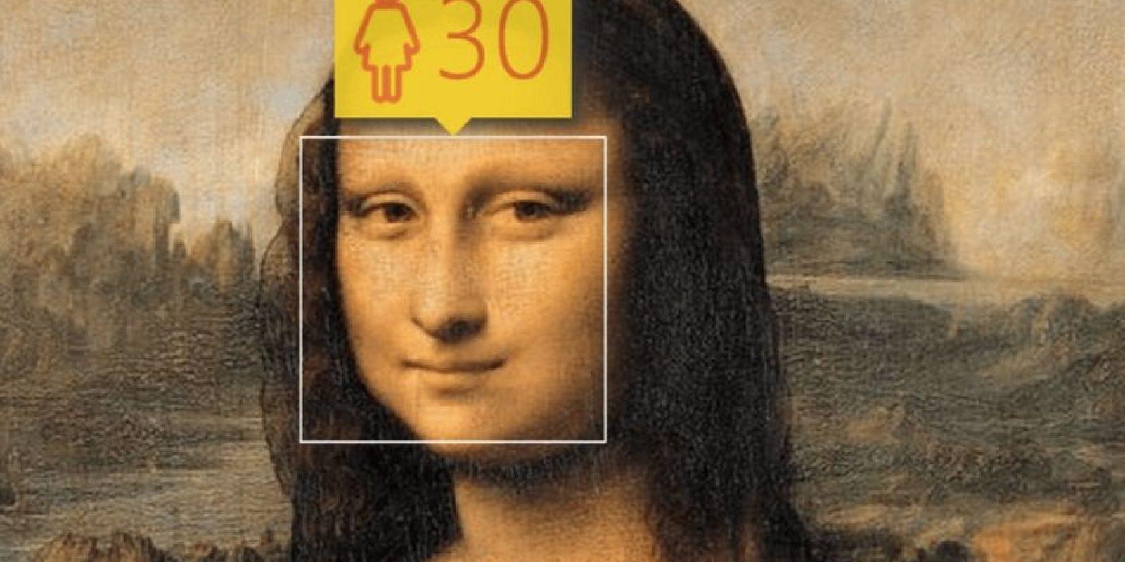 La Mona Lisa. Foto:how-old.net