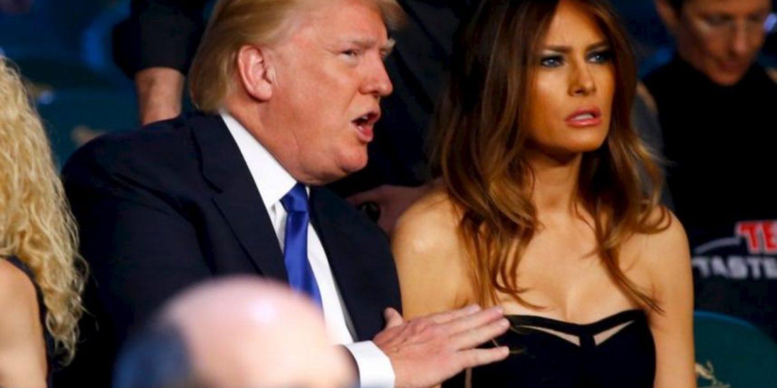l magnate Donald Trump y su esposa, Melania Trump F Foto:Getty Images