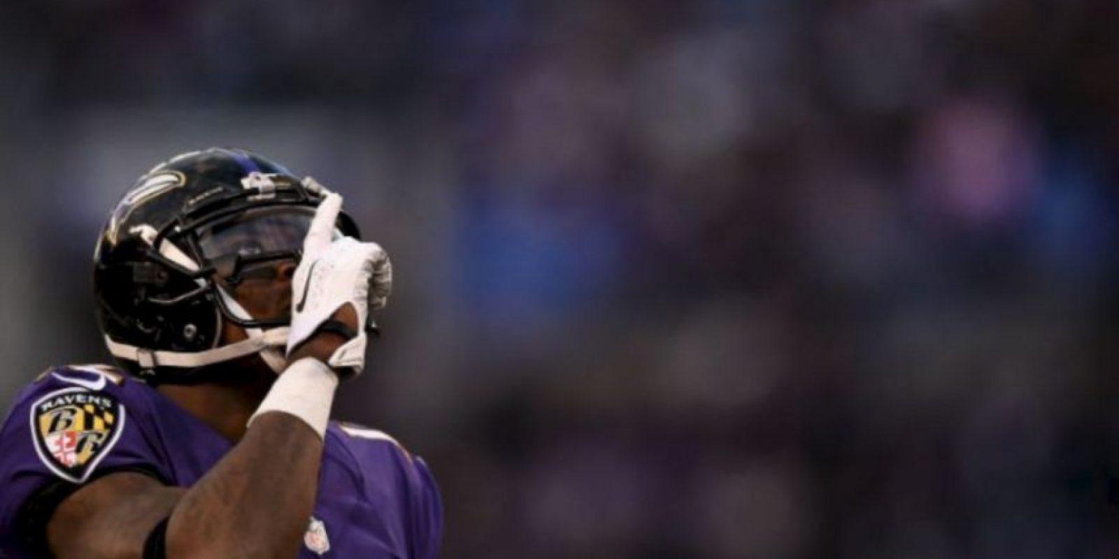 El receptor de los Cuervos de Baltimore fue golpeado por la bailarina conocida como Sweet Pea Foto:Getty Images