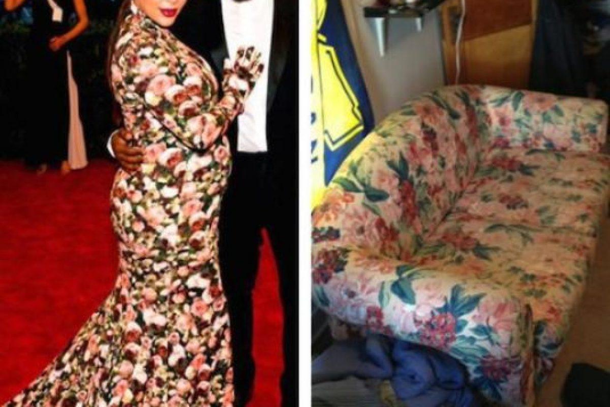 En las redes sociales la compararon con un sillón Foto:Twitter