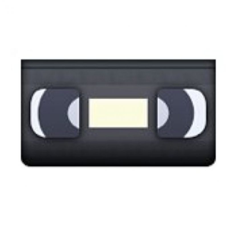 Se trata de una cinta de video cassette utilizada para grabar o reproducir videos. Foto:emojipedia.org