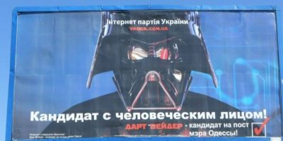 """""""Darth Vader"""" canta para conseguir el poder en Ucrania Foto:Facebook Дарт Вейдер (Darth Vader)"""