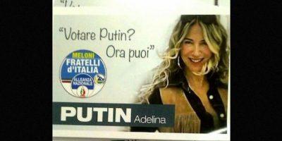 """La modelo, DJ y locutora de radio ha sobresalido en los últimos días por su eslogan: """"¿Quiere votar por Putin? ¡Ahora puede hacerlo!"""" Foto:Instagram.com/Adeputin"""