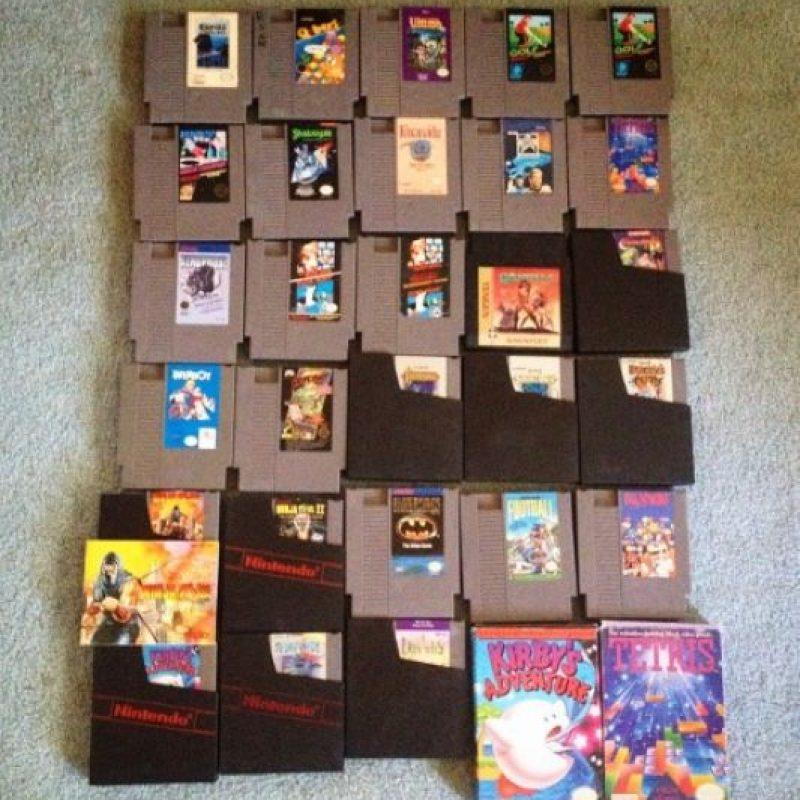 13.- Una colección así o más grande de videojuegos Foto:Mercadolibre