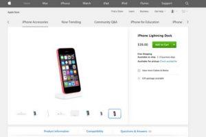 De esta forma apareció en el sitio oficial de Apple. Foto:Apple