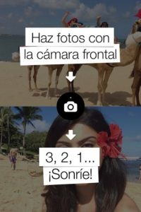 Con esta aplicación es posible tomar una foto con la cámara posterior, otra con la cámara frontal y colocarla en la misma imagen. Foto:Frontback