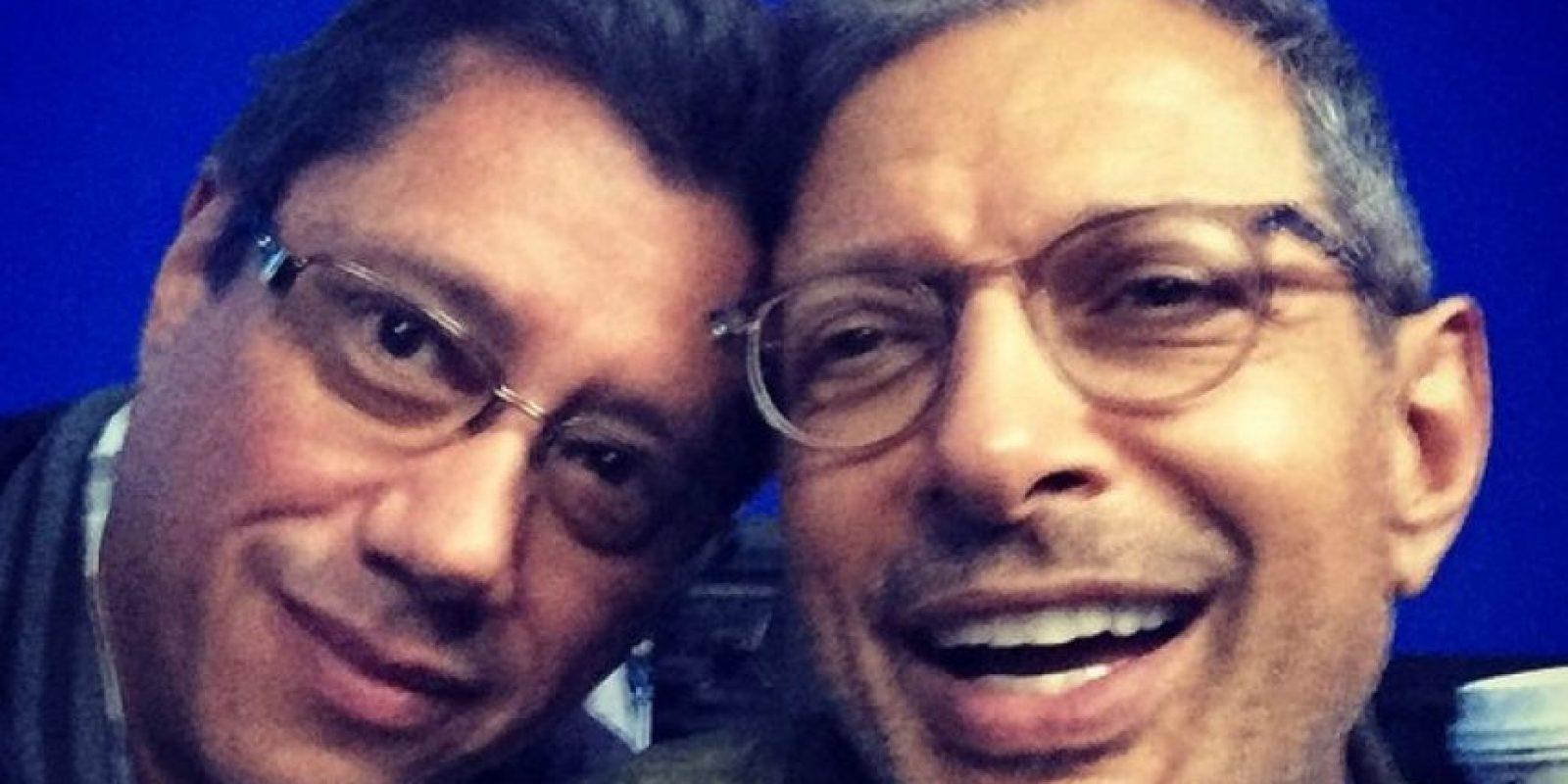 Jeff Goldblum posó junto al productor de la cinta, Dean Devlin Foto:Instagram/officialdeandevlin