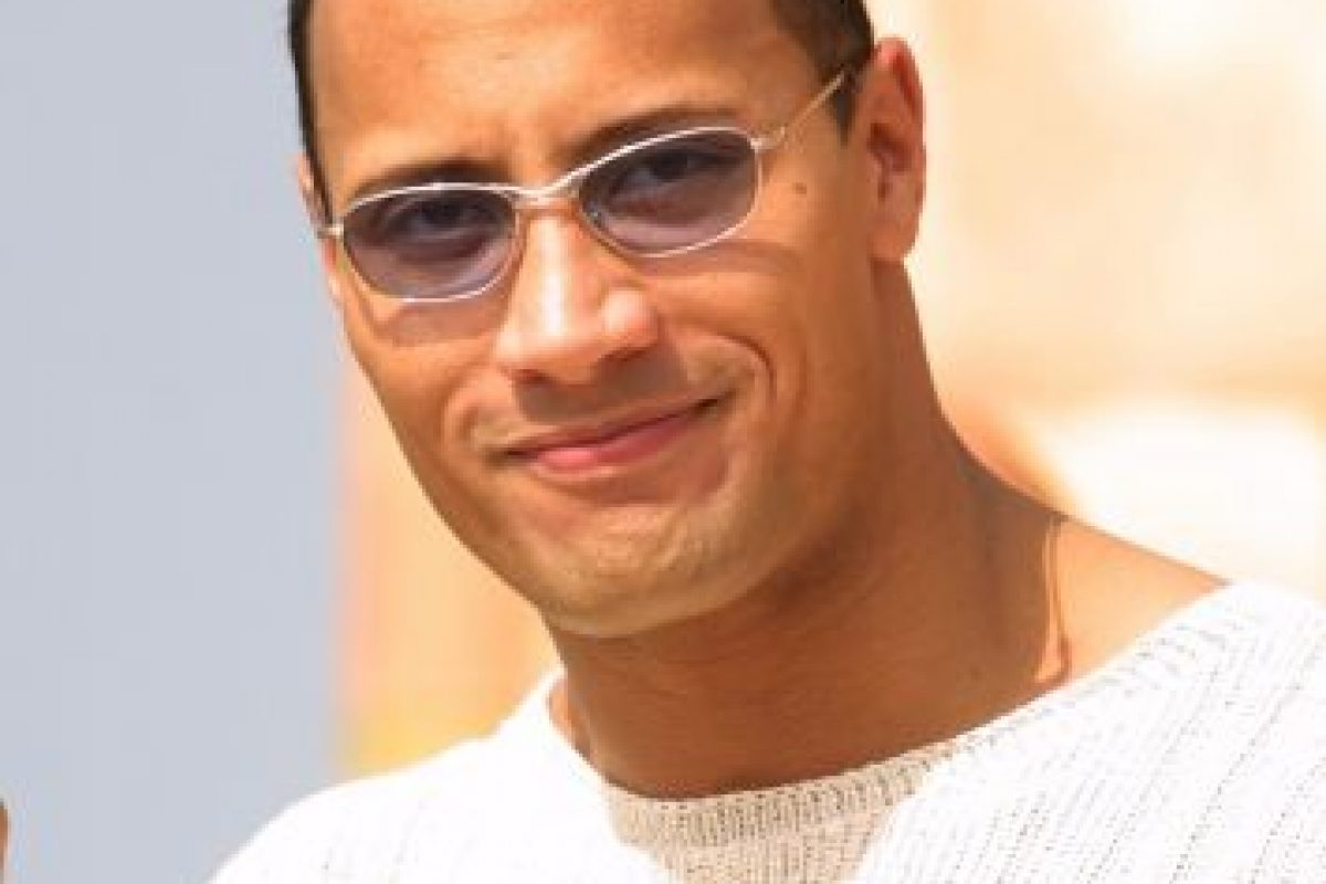 Cuando había cabello en la cabeza del actor y ex luchador de la WWE Foto:Getty Images
