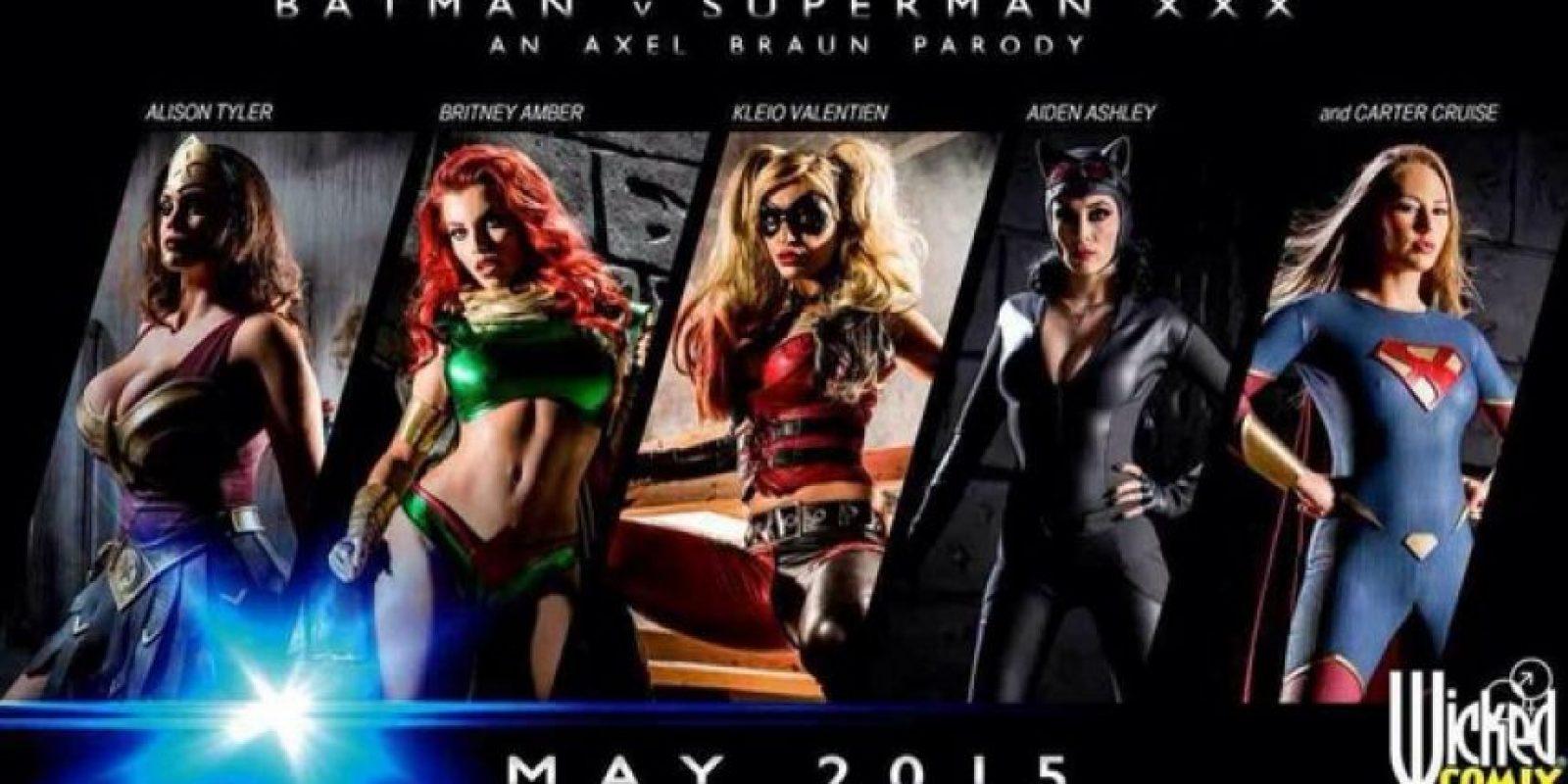"""""""Batman v Superman XXX"""" es el nombre de la cinta. Foto:Twitter/WickedPictures"""