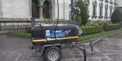 Instalan antenas de monitoreo previo a manifestación