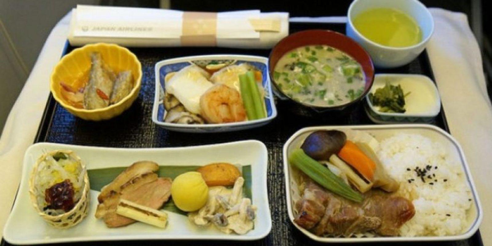 1. Vuelo de Songshan a Tokio. Tiene mariscos, té, carne de res y arroz. Foto:Vía Flickr: lukelai /Creative Commons