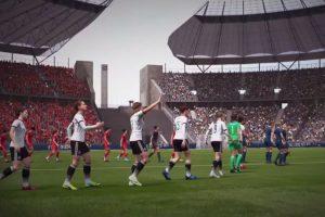 Un partido entre Selecciones femeninas en el Estadio Olímpico de Berlín. Foto:EA Sports