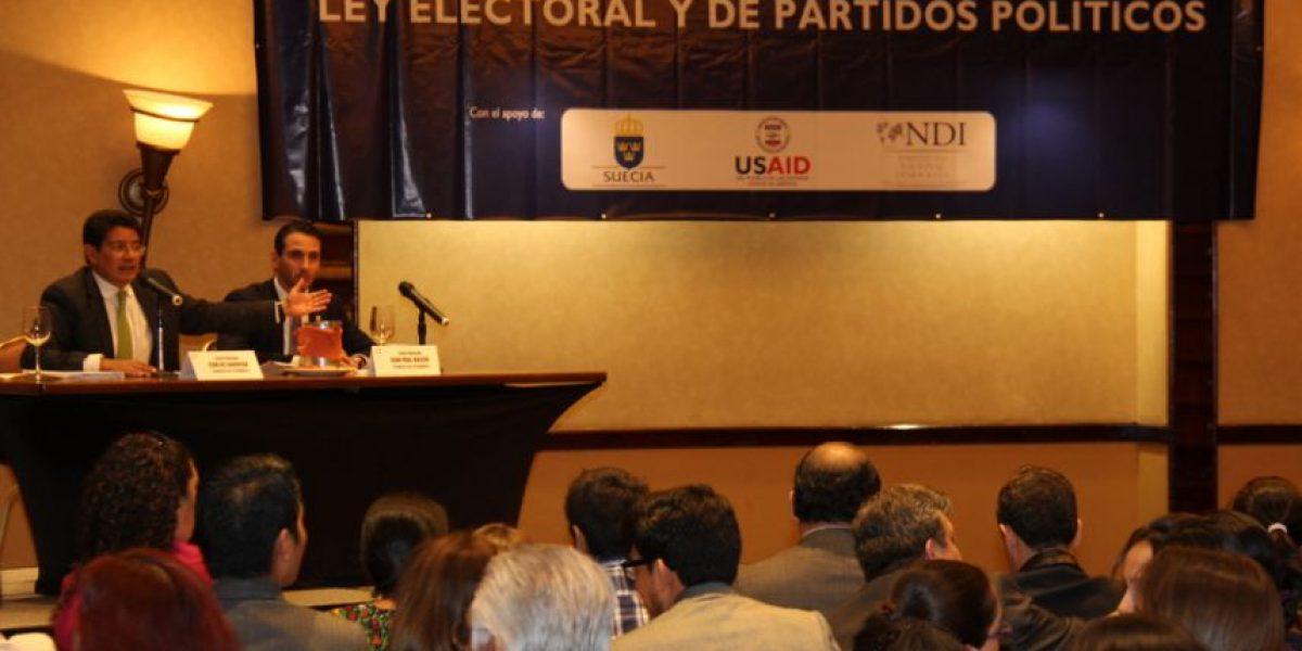 Discusión sobre reforma a la Ley Electoral y de Partidos Políticos