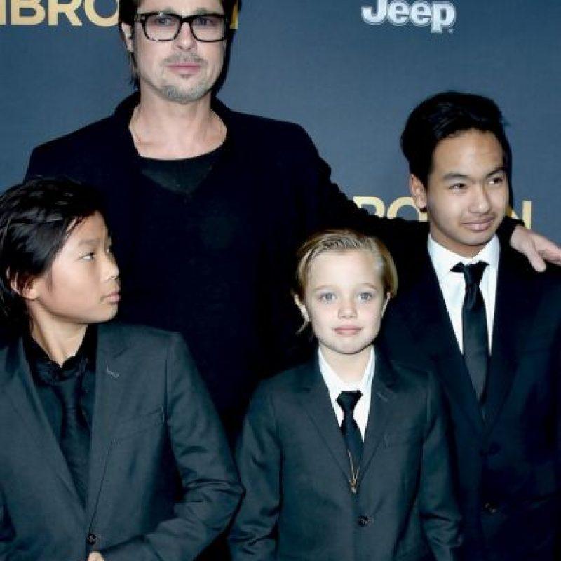 La pequeña Shiloh es una perfecta combinación entre Brad y su esposa Angelina Jolie. Foto:Getty Images