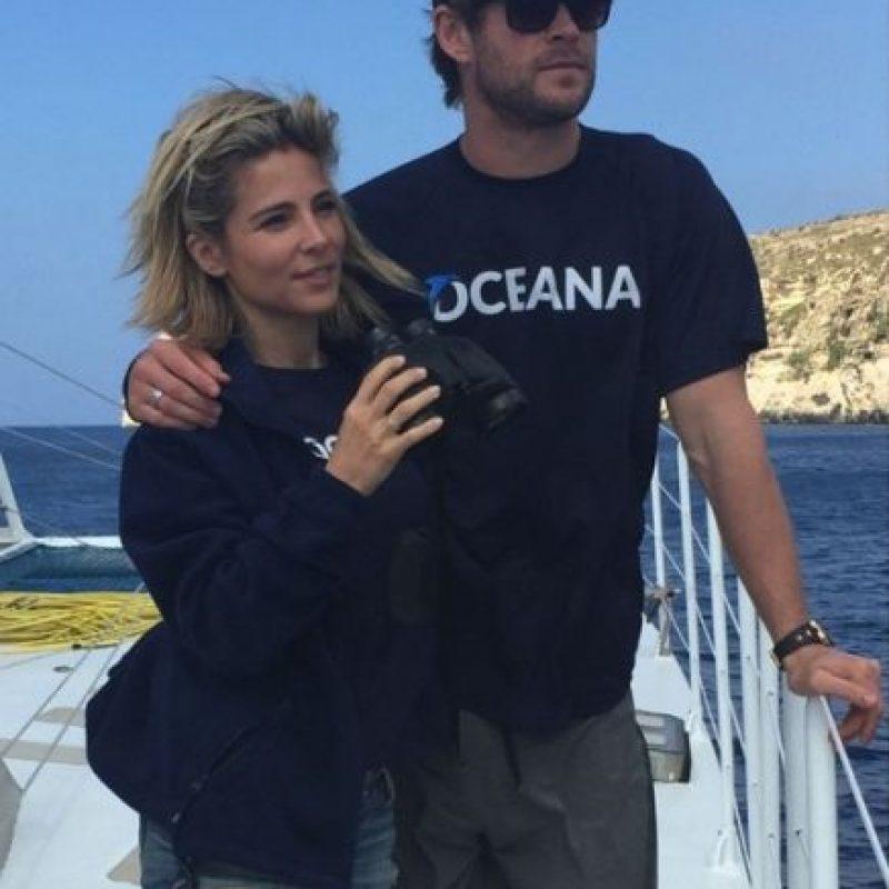 """La pareja viajó a Malta para apoyar a la organización """"Oceana"""", que se encarga de explorar y proteger los mares. Foto:vía instagram.com/elsapatakyconfidential"""