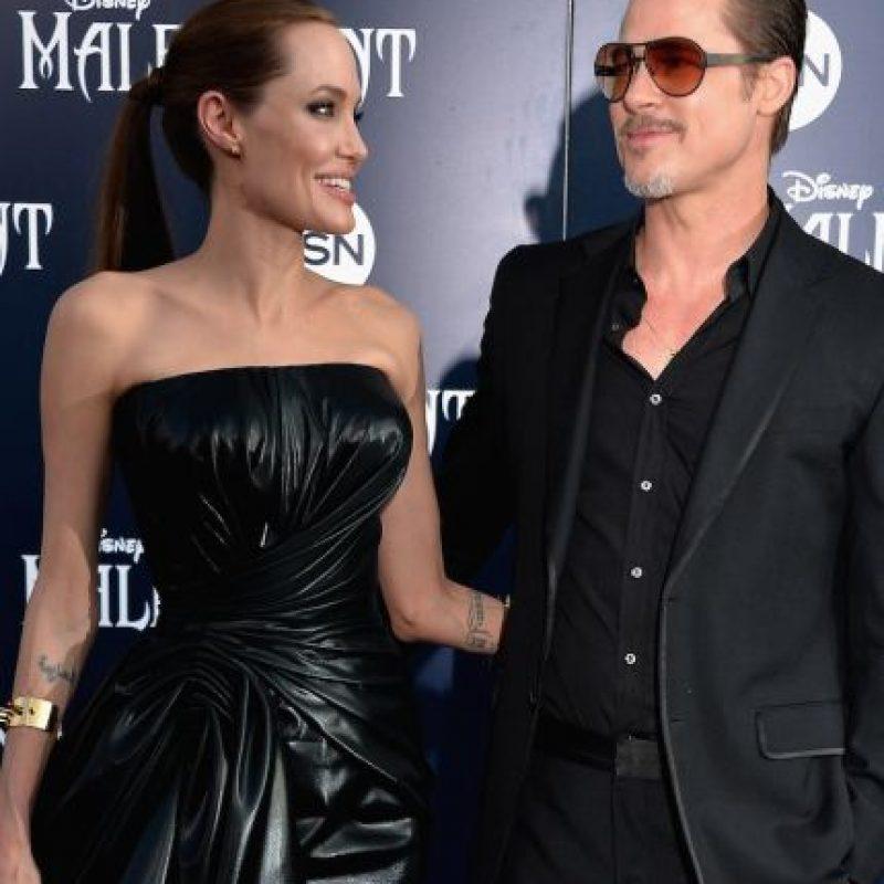 Posteriormente inició una familia con Jolie. Foto:Getty Images