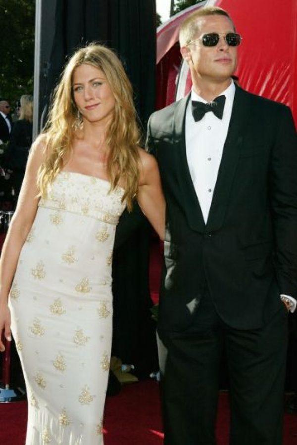 """El 2004, Pitt terminó su matrimonio con la protagonista de """"Friends"""". Foto:Getty Images"""
