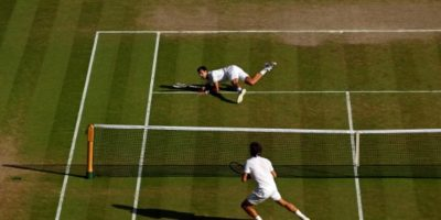 Ganó en cinco set a Federer con parciales de 6-7(7), 6-4, 7-6(4), 5-7 y 6-4. Foto:Getty Images