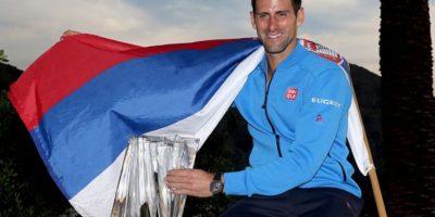 El serbio obtuvo el título en tres sets ante Roger Federer. Foto:Getty Images