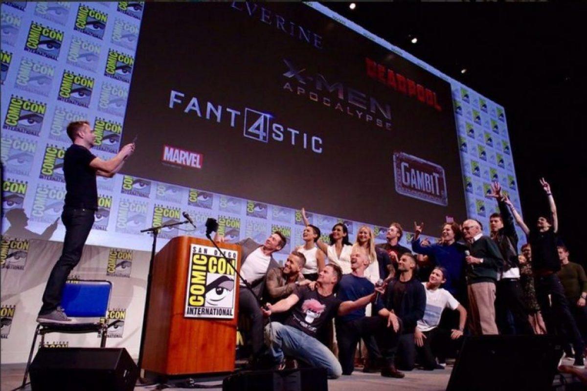 """Actores de """"X-Men"""", """"Wolverine"""", """"Deadpool"""" y """"Fantastic Four"""" son los que aparecen en la imagen. Foto:Twitter"""