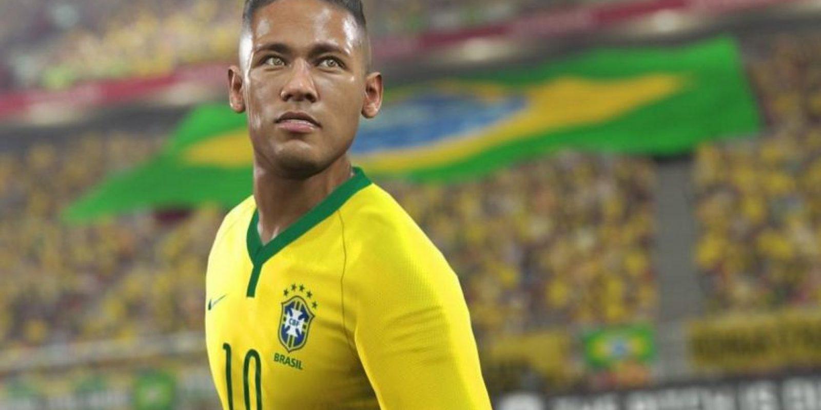 Neymar en el PES 2016. Foto:Twitter