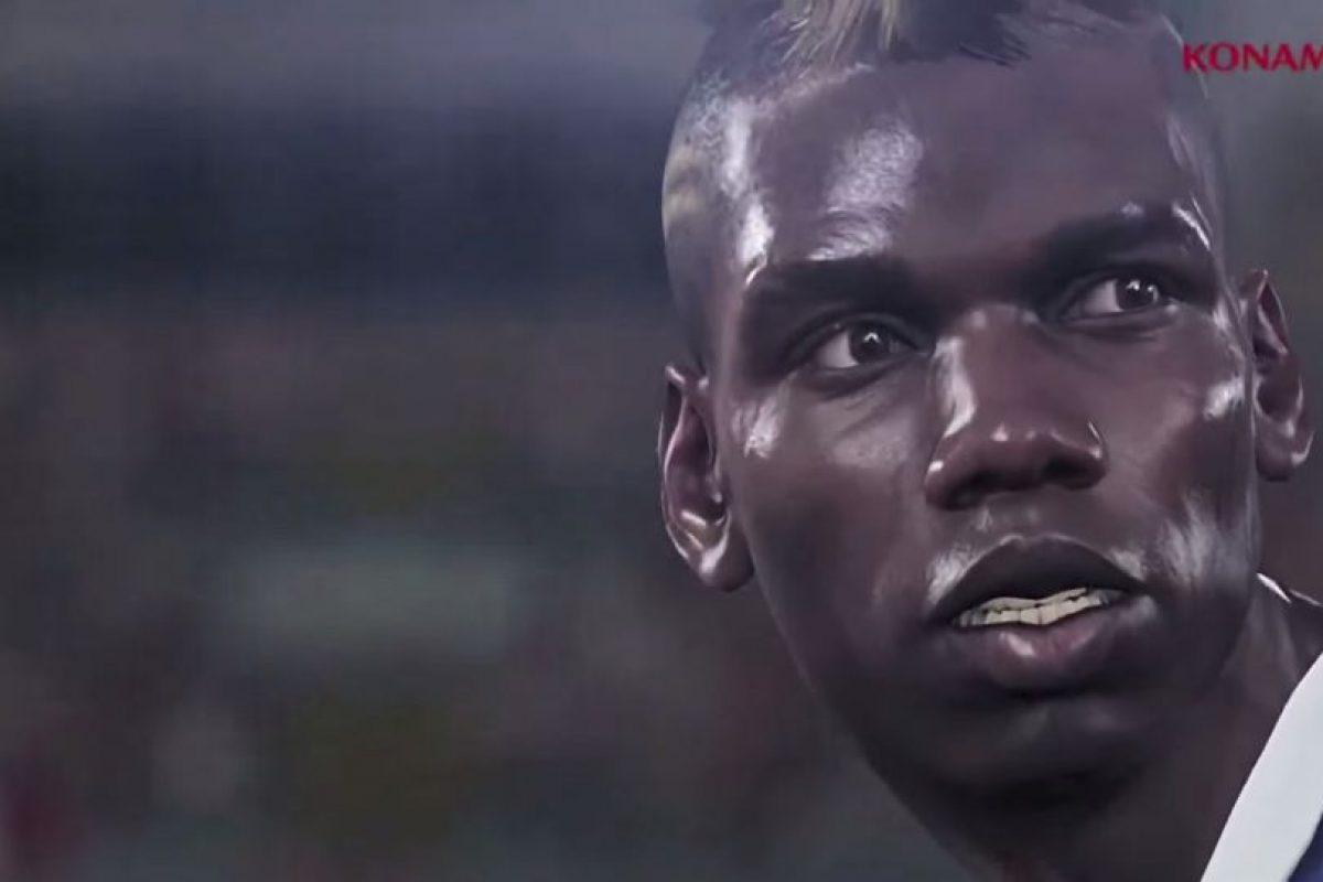 Paul Pogba en el PES 2016. Foto:Twitter