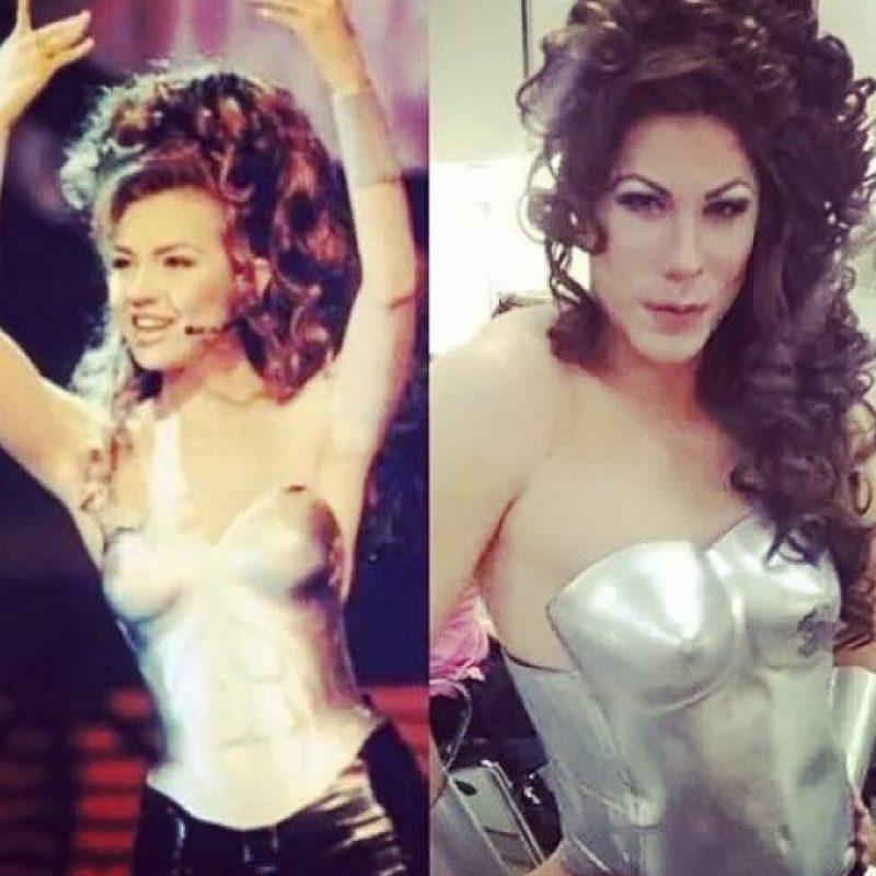 """En 2014, causó gran polémica al vestirse mujer en el programa """"Tu Cara me Suena"""". Foto:vía instagram.com/christianchavezreal"""