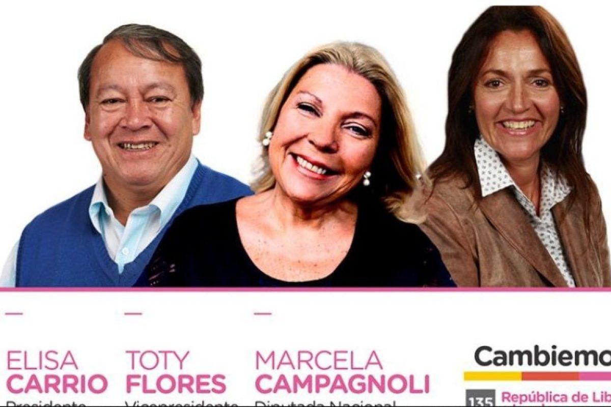 """Elisa Carrió – """"Cambiemos"""" Foto:facebook.com/Elisa.Lilita.Carrio"""